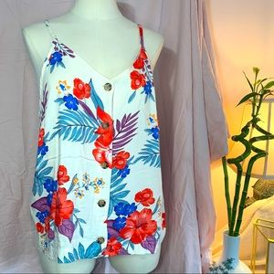 2 for $15 NWOT Kirious tropical floral tank